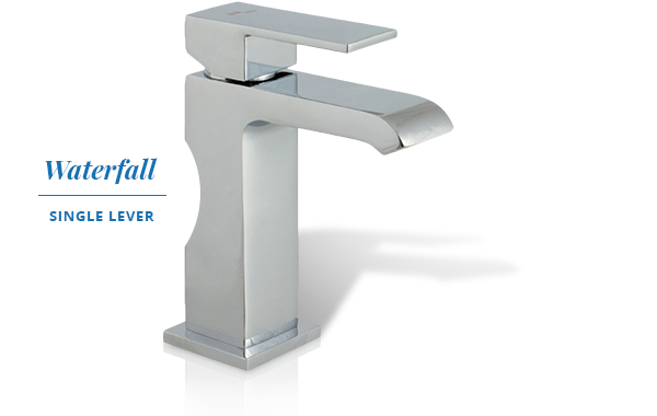 Single lever faucet Waterfall basin collection.
